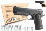 Softair Pistole Metall Federdruck G25 Black Metal Gun