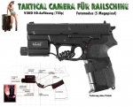 I.C.U. Action Tacticam Kamera 2.0 HD 720p Foto 5MP f. Railschiene MicroSD